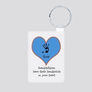 handprints on your heart - 1 grandchild Keychains